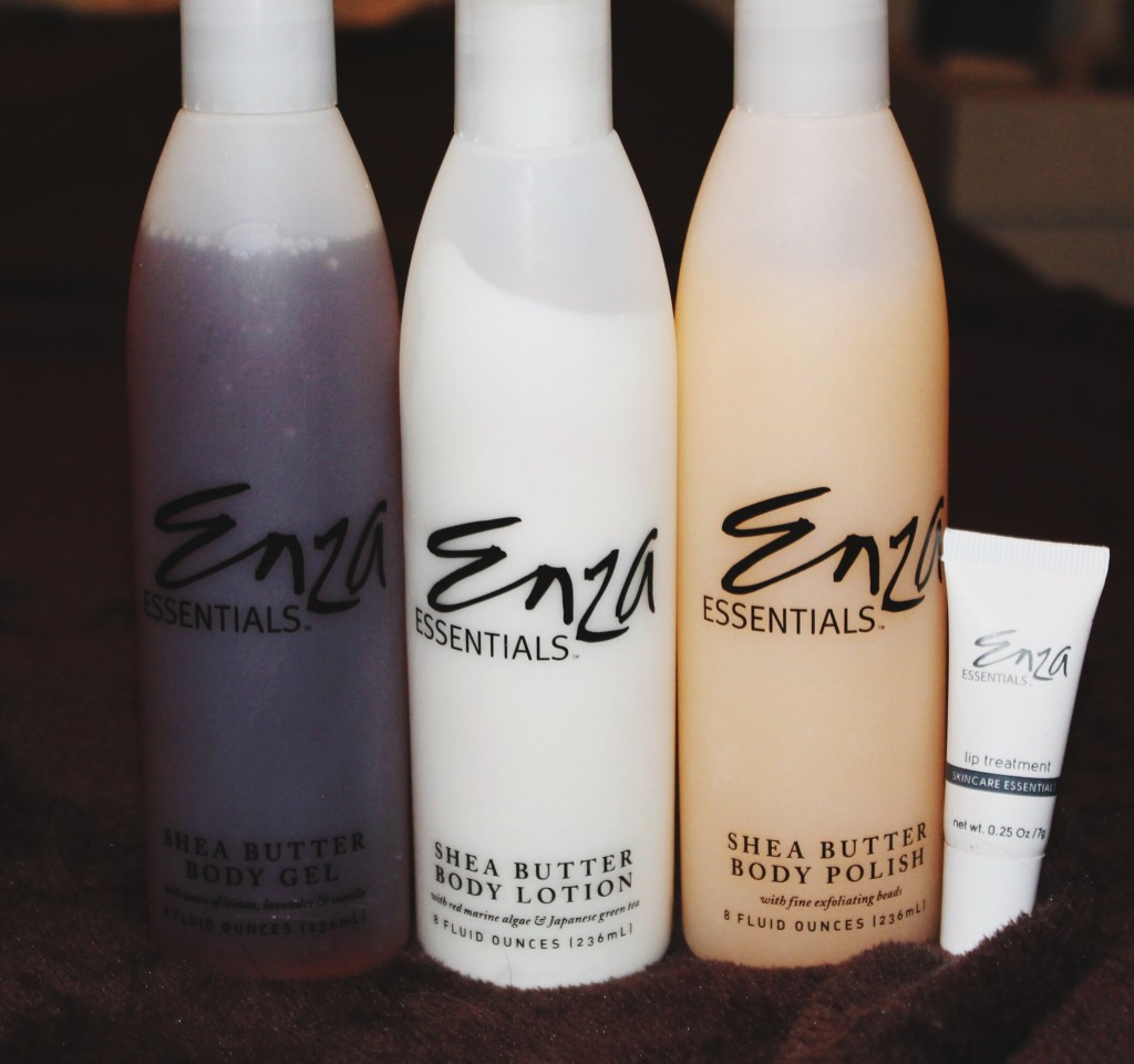 Enza Essentials: Shea Body Butter Polish, Gel, Lotion and Lip Treatment