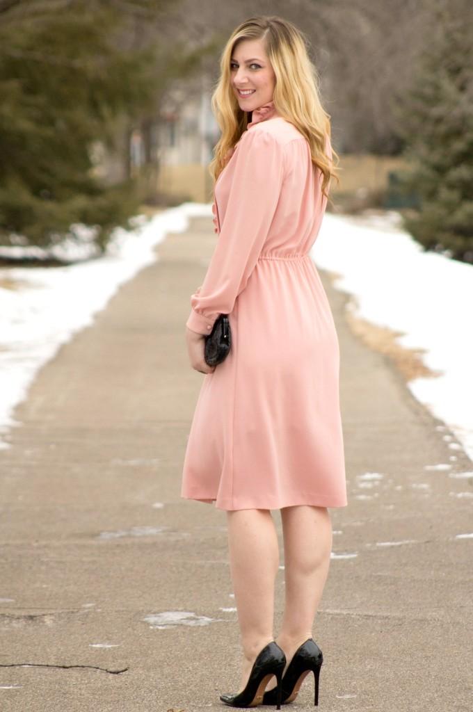 blush pink dress for valentine's day