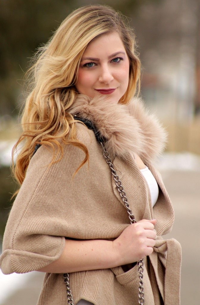 faux fur cardigan wrap from lookbook store