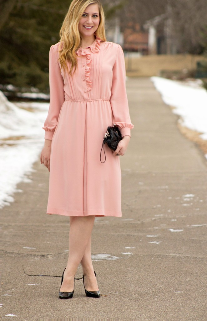 light pink dress for date night