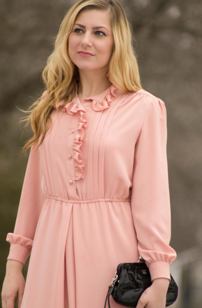 vintage blush dress
