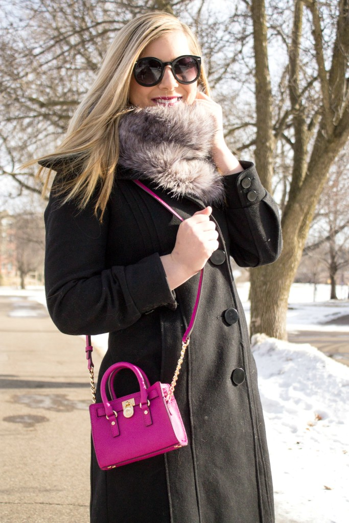 bright pink mini handbag