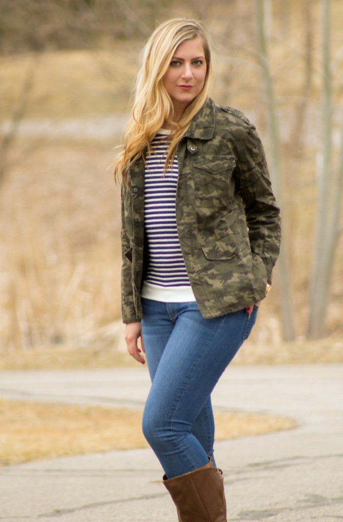 styling a camo jacket