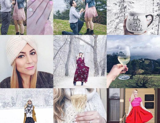 This year's top nine posts! Thank you for all of your support this year and all of your wishes on my engagement!  2017 is bound to be epic! Before we get there though I'm sharing a very honest recap of 2016 on the blog today! Read about the good, the bad, and the ugly on www.rachelslookbook.com #bestnine2016 #thankyou #happynewyear