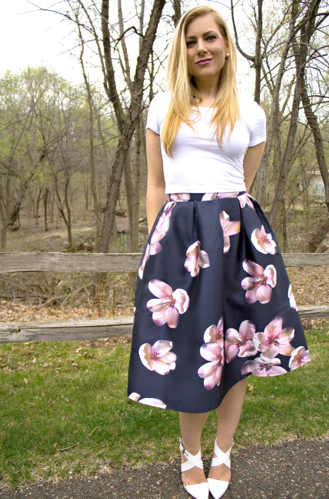 Crop Top + Floral Midi Skirt  Rachel's Lookbook