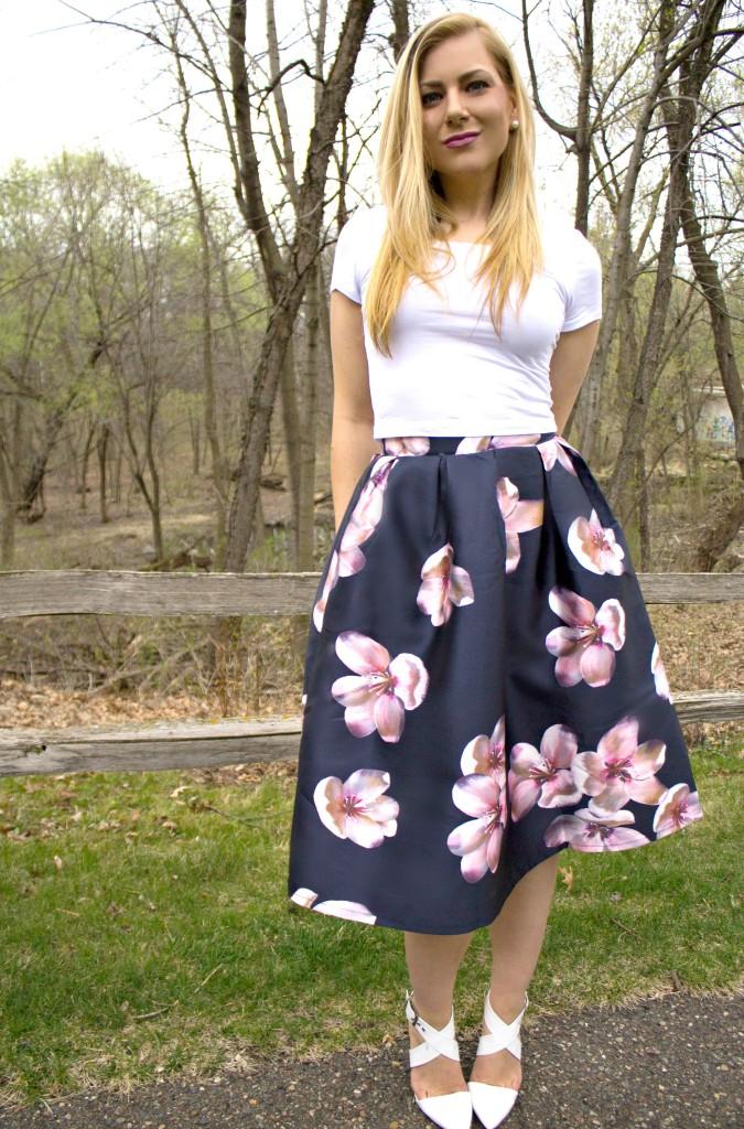 4c94f3b47a Crop Top + Floral Midi Skirt Rachel's Lookbook