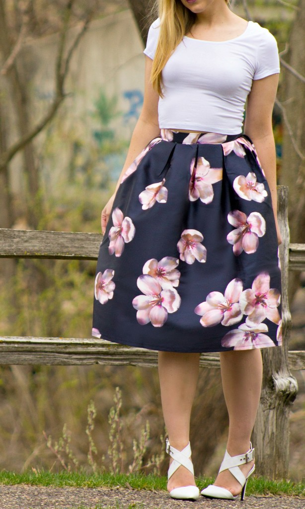 Floral Midi Skirt + Crop Top  Rachel's Lookbook