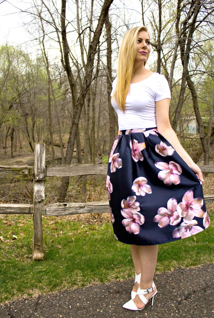 Floral Midi Skirt  Rachel's Lookbook