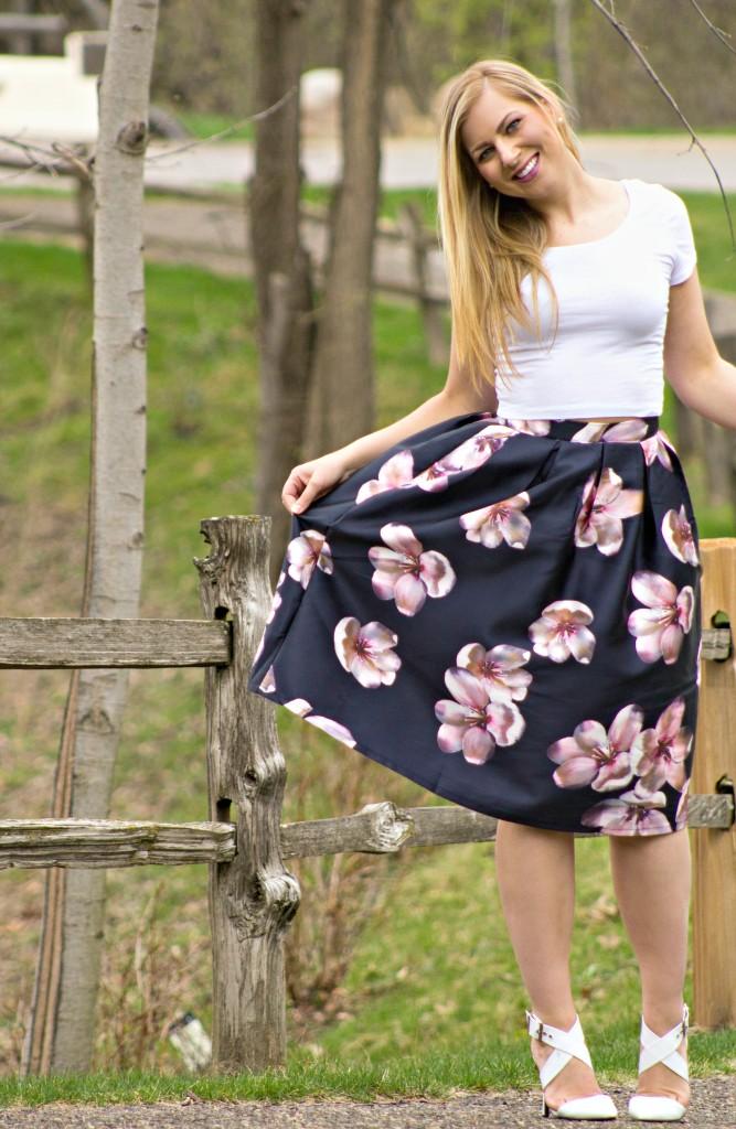 Spring midi skirt