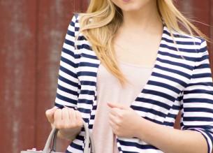 Striped Blazer Casual Style  Rachel's Lookbook