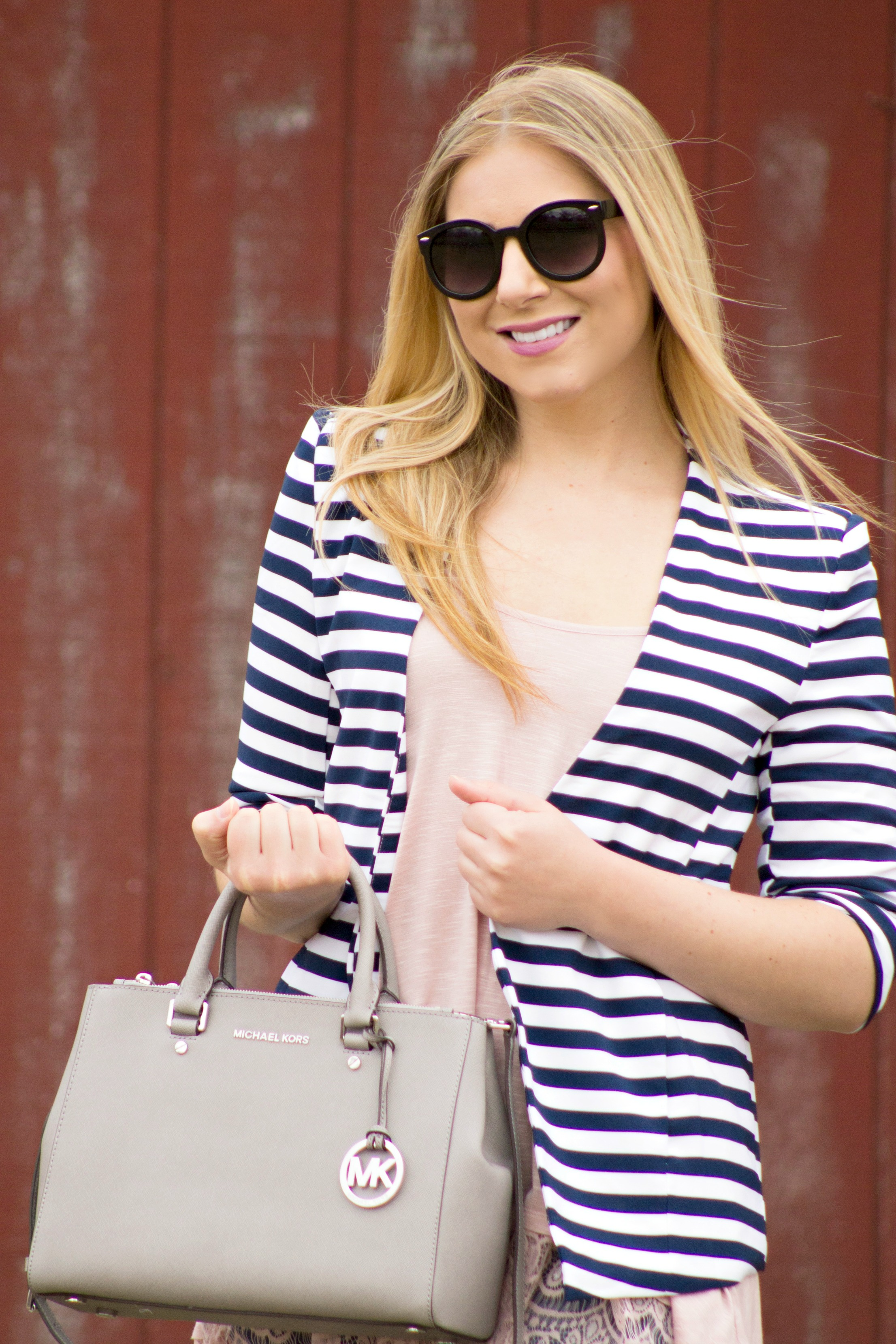 Striped Blazer Casual Style  Rachel's Lookbook