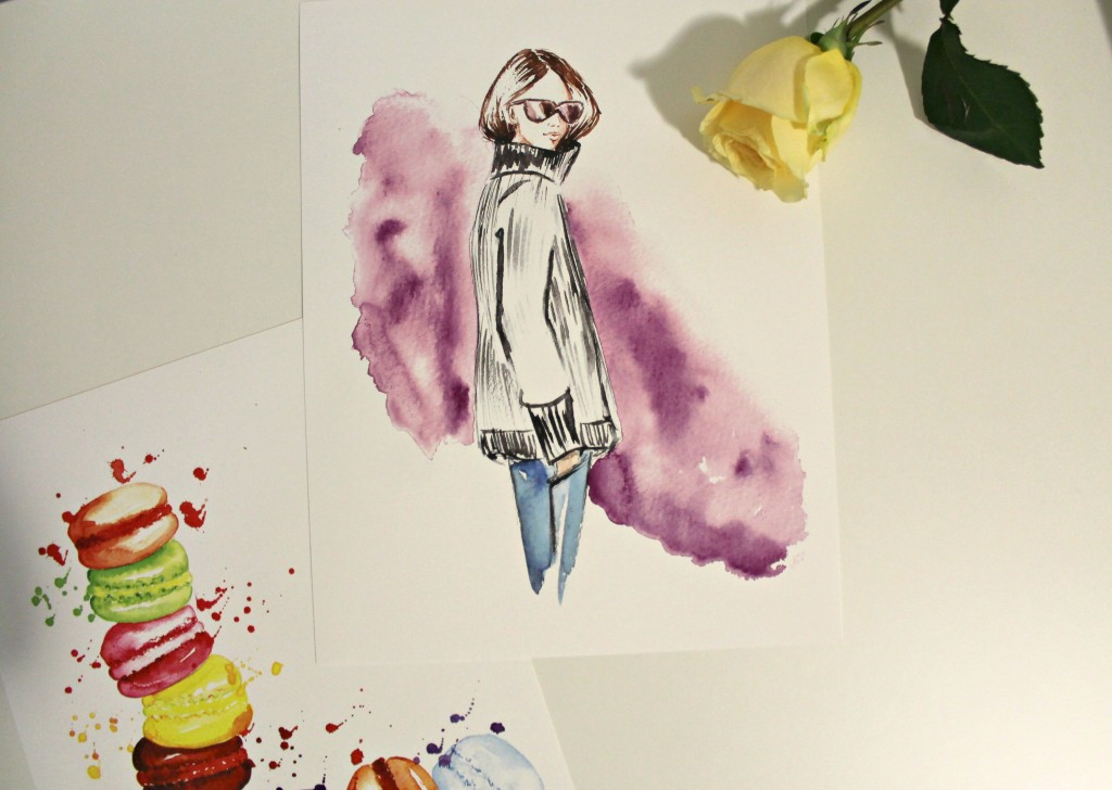 fashion illustration giveaway with DC in Style