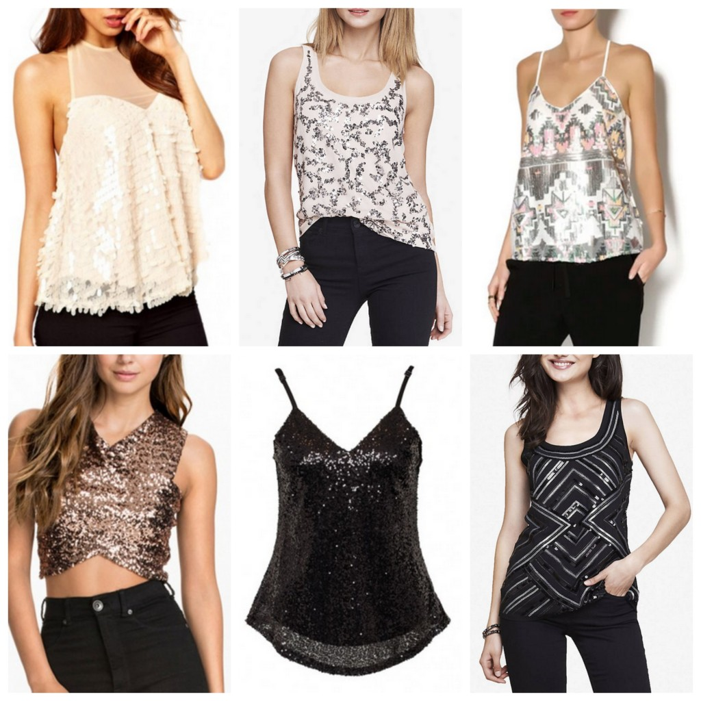 Sequin Tanks