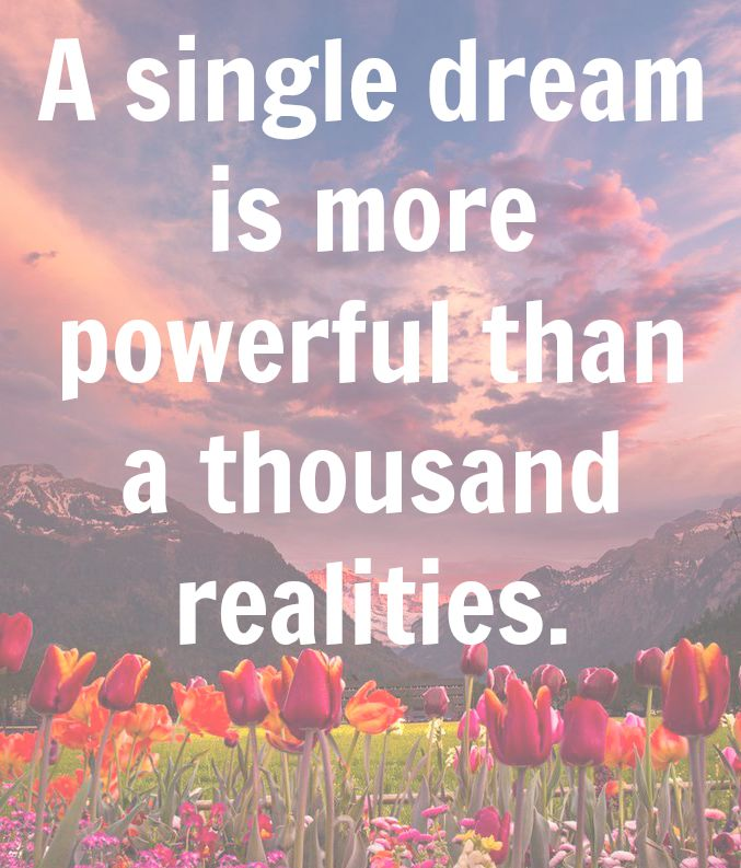 A Single Dream Quote