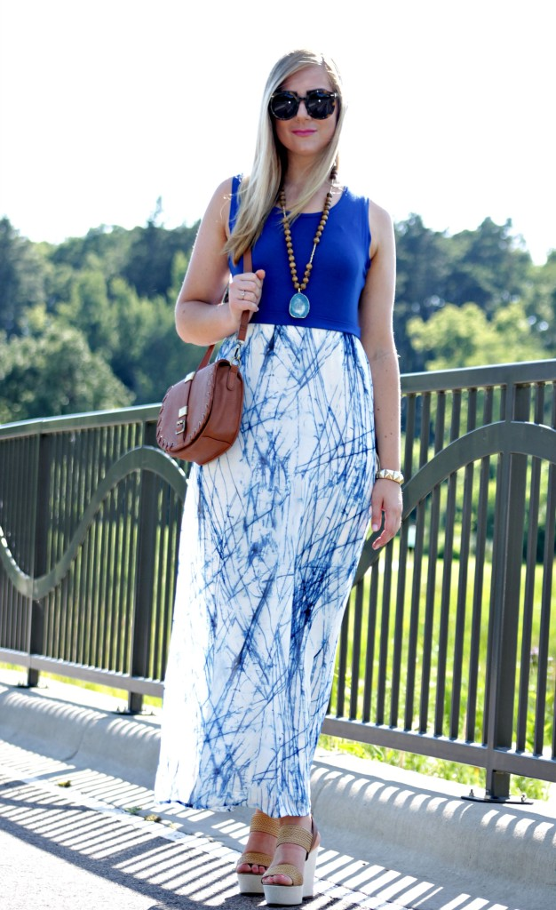 calvin klein blue maxi dress