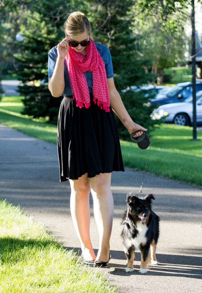 the pink tassel scarf