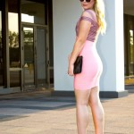Pink and Black Bandage Dress: The Kewl Shop