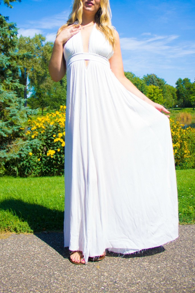 Maxi Dress, Bohem Gems Necklace