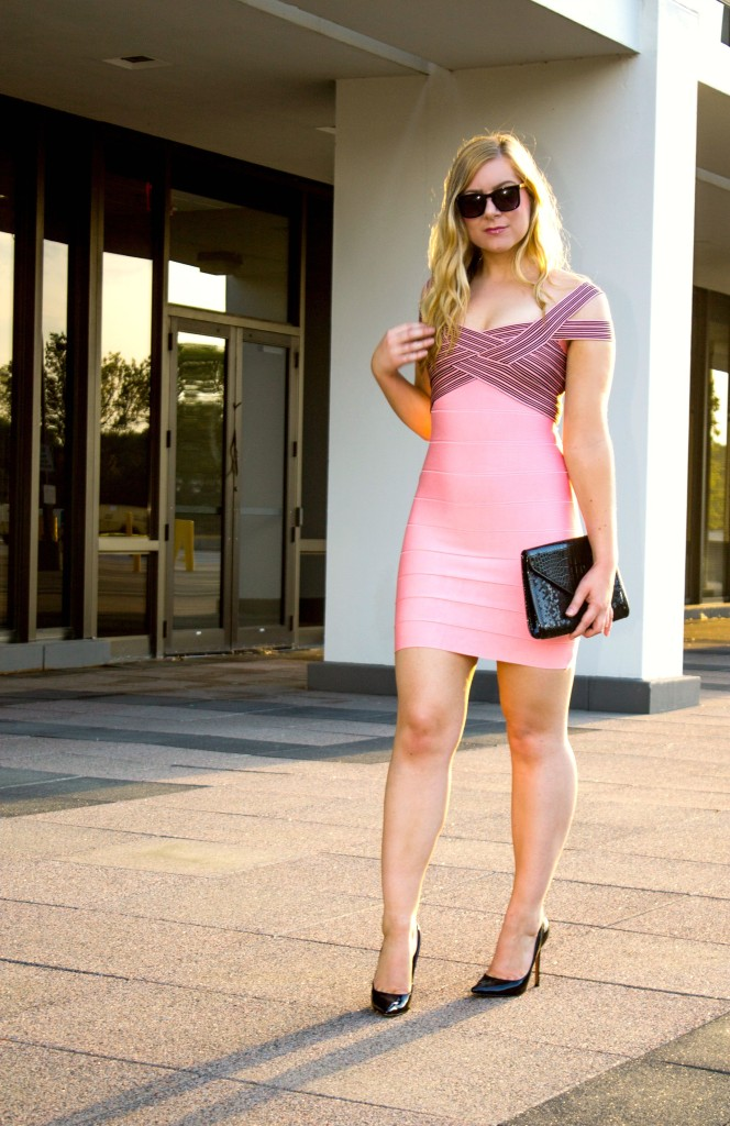 The Kewl Shop Pink Bandage Dress