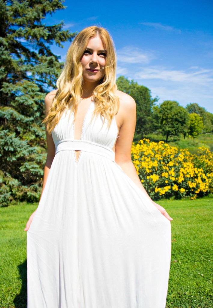 White Maxi Dress Summer Style