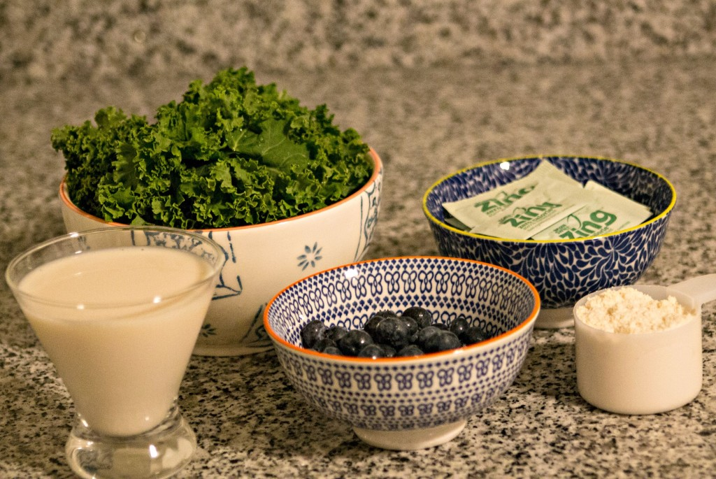 kale smoothie ingredients