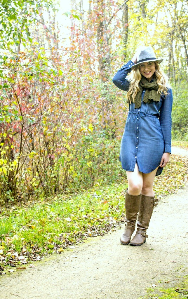 denim-dress-with-green-scarf-654x1024