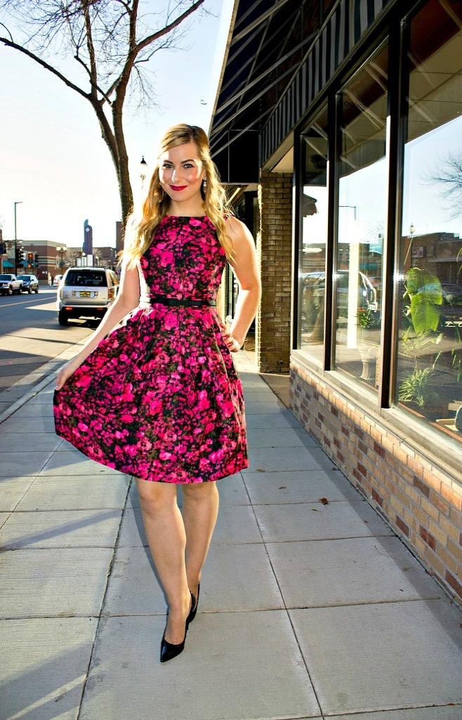Jessica Howard Floral Print Dress