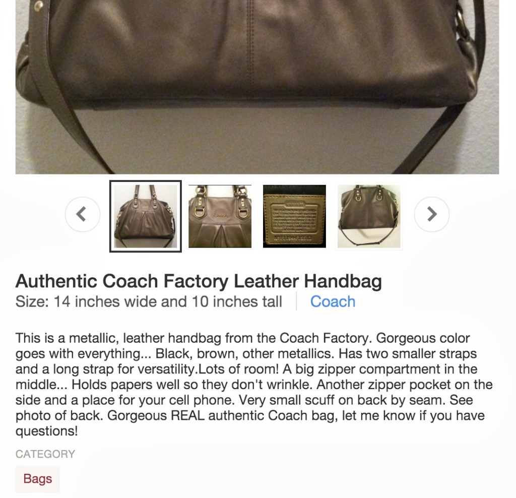 Handbag description