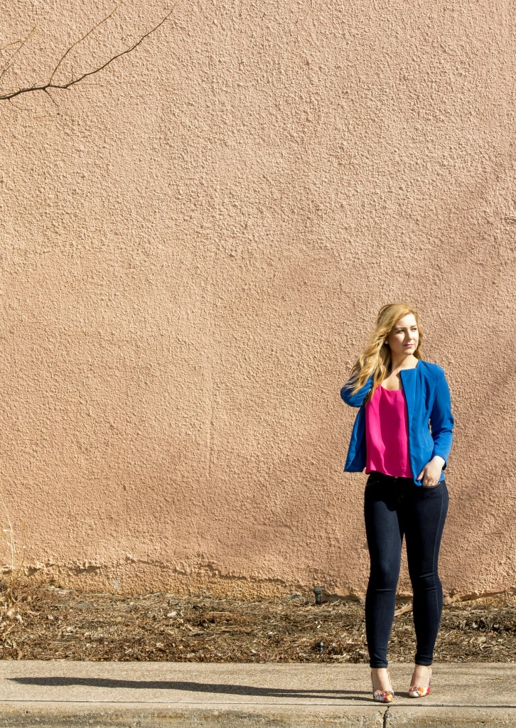 Color Blocking Pink + Blue