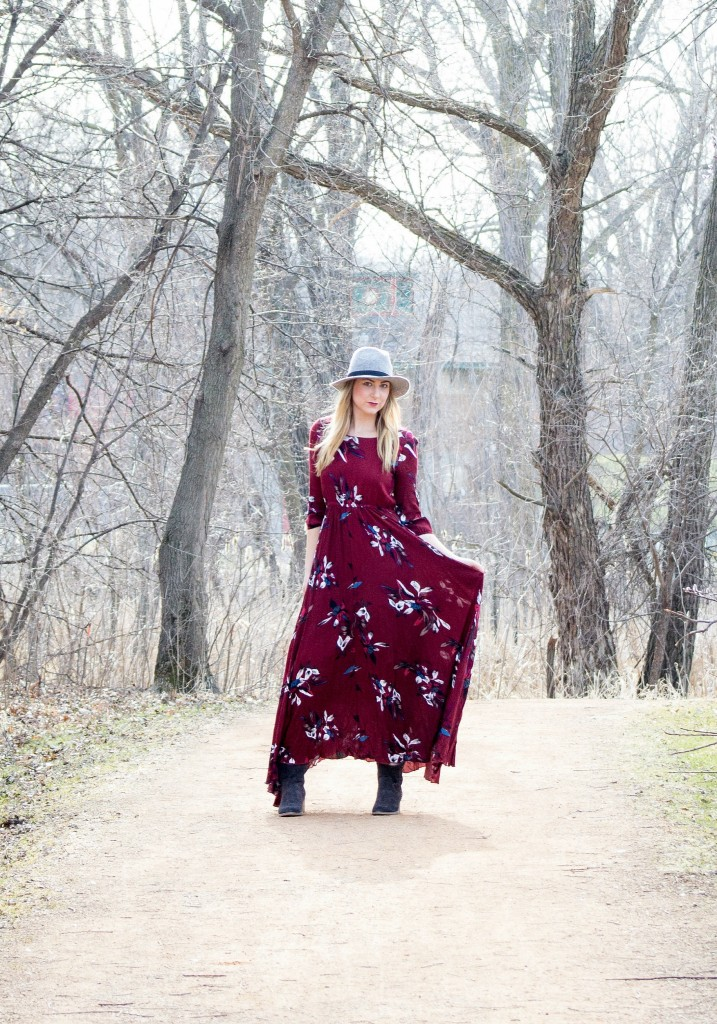 Floral Maxi Dress Style