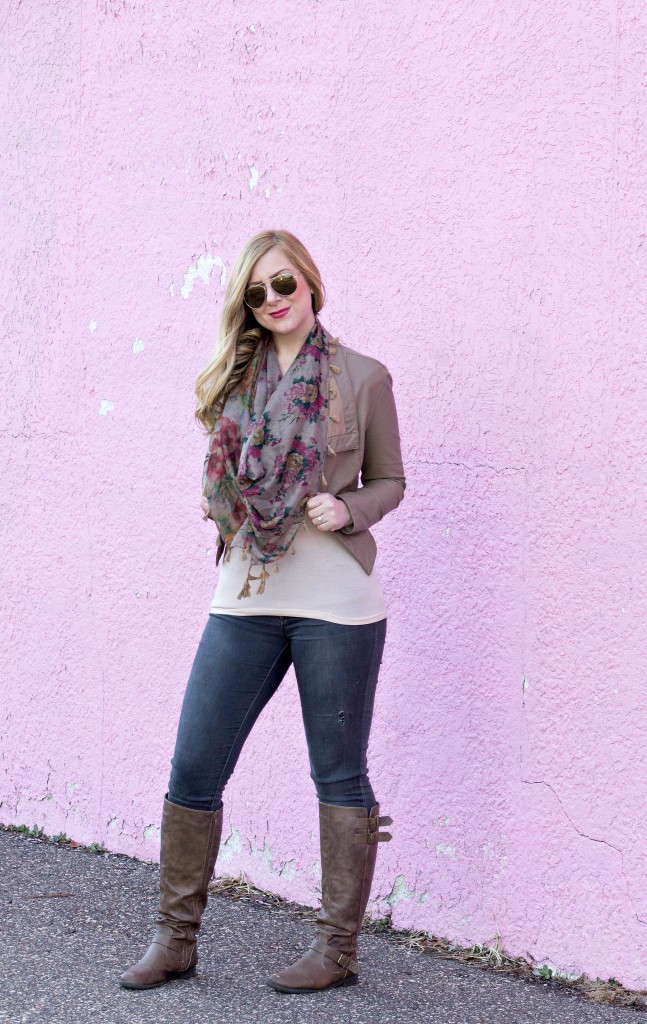 Neutral Jacket + Neutral Tan Boots
