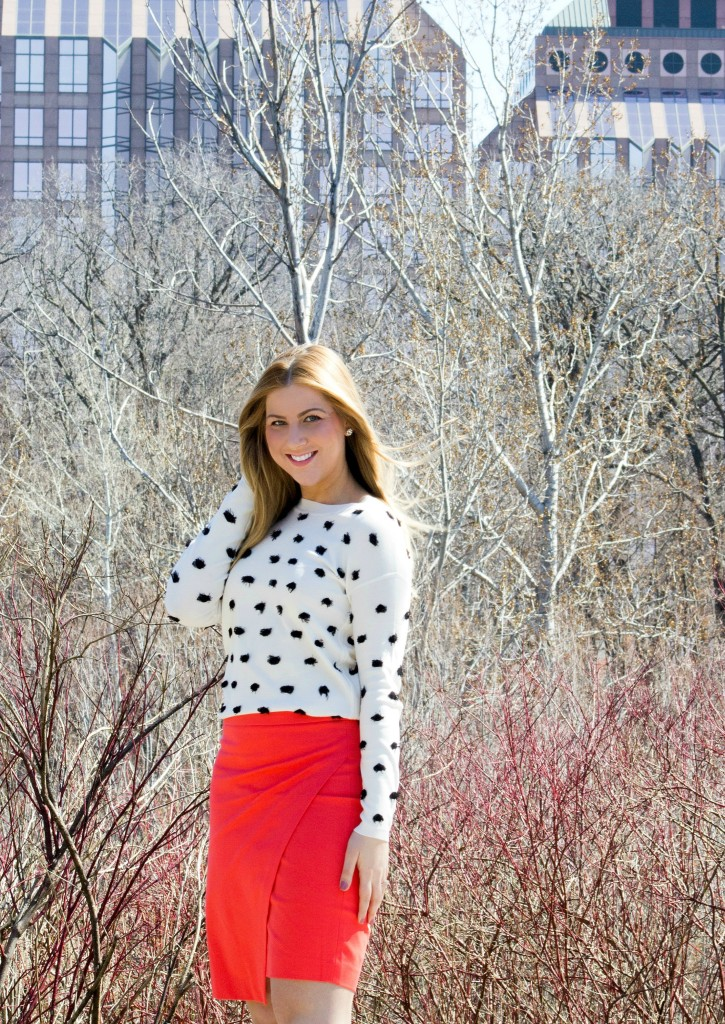 Banana Republic Fringed Dot Sweater