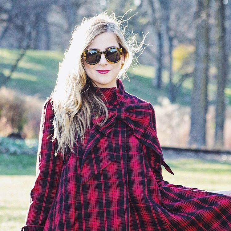 Todays blog post! Wearing a tartan dress with a gianthellip