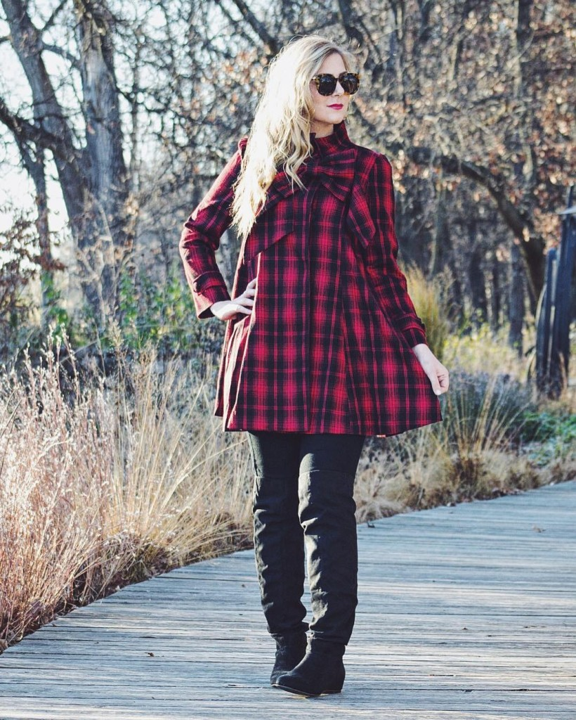 Have you seen my latest post?! Wearing this plaid bowhellip