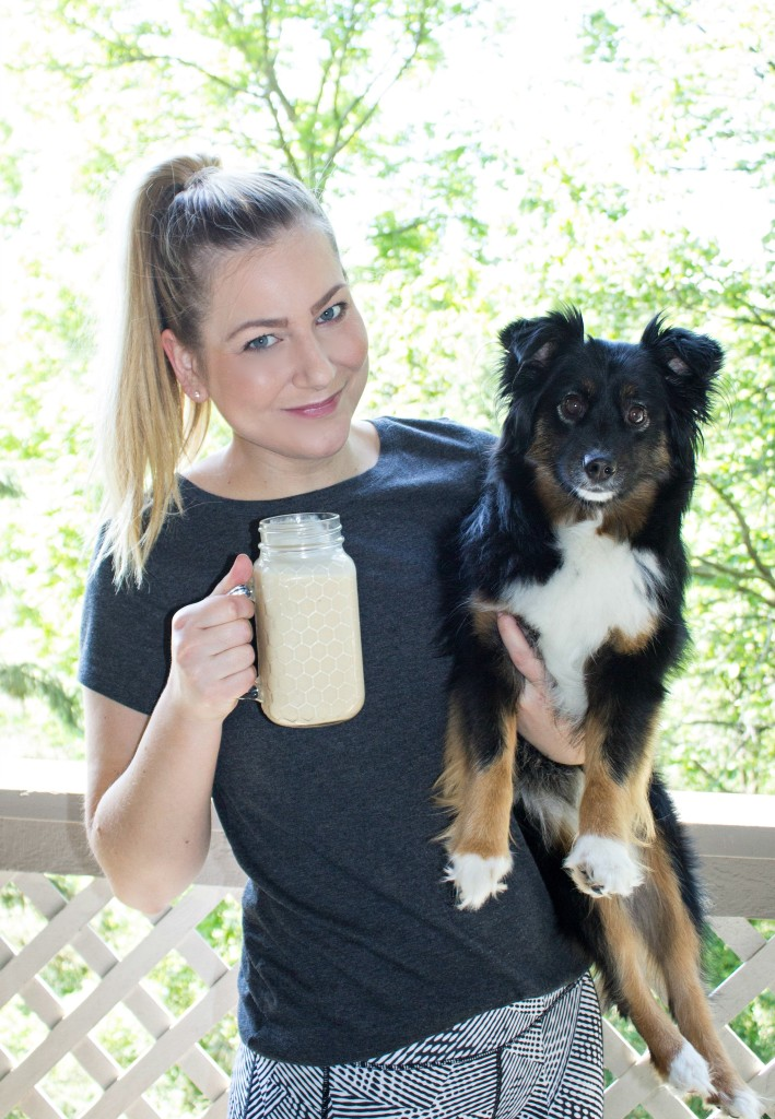 Peanut Butter Banana Protein Shake with EAS Whey Protein