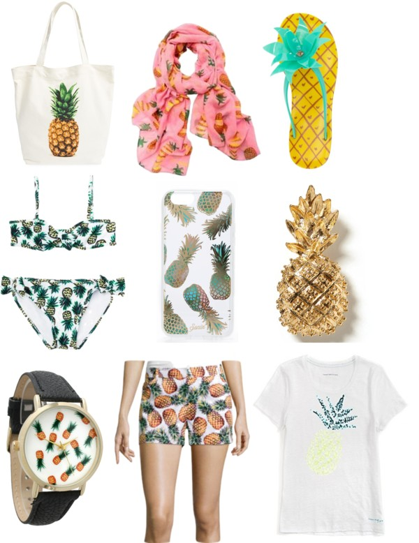 Image of Pineapple Print clothing and accessories.