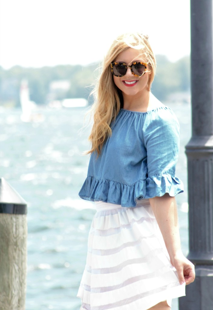 summer style - chambray top