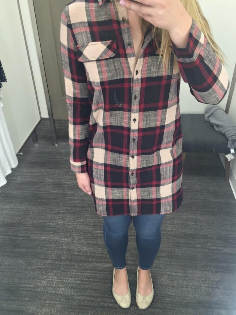 Caslon Plaid Shirt Dress