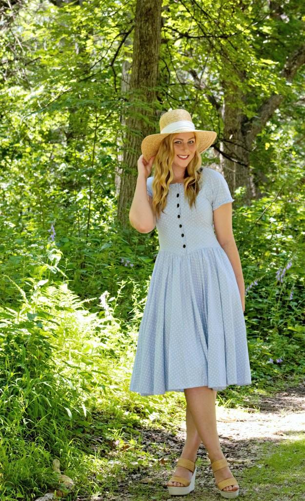 How to Wear a Vintage Polka Dot Dress