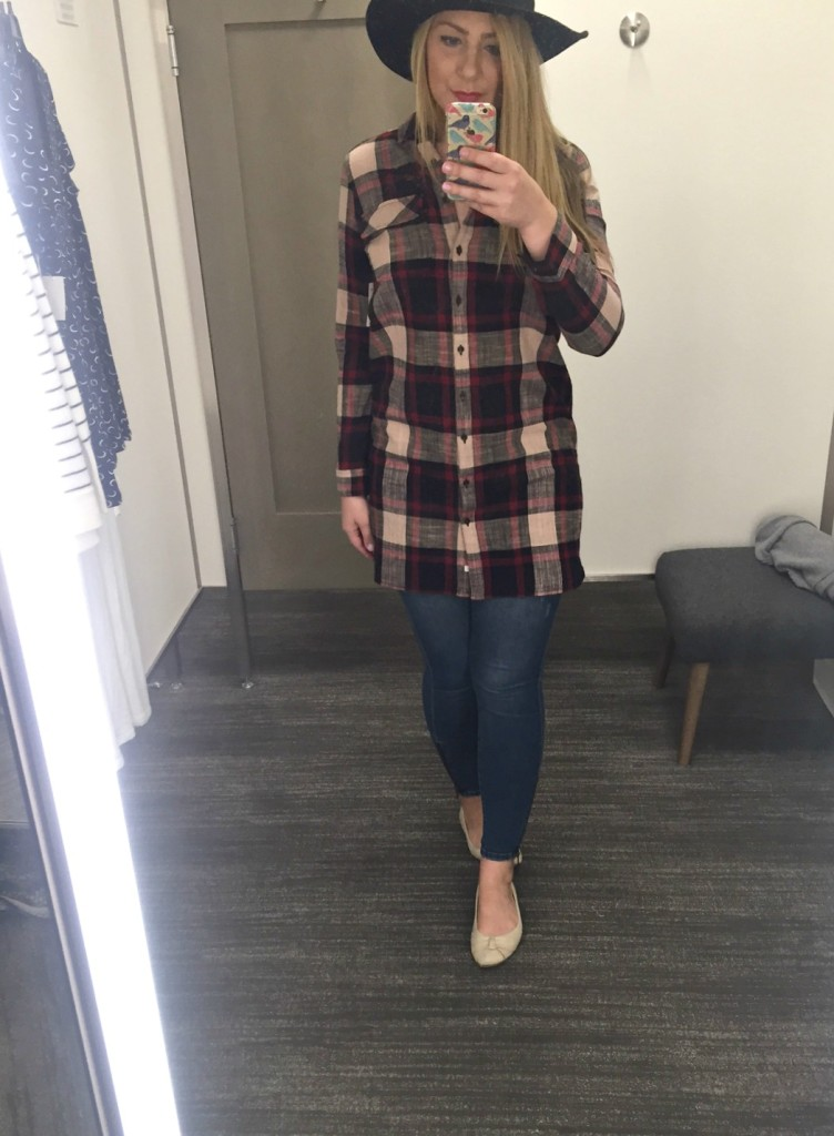 Relaxed Plaid Top