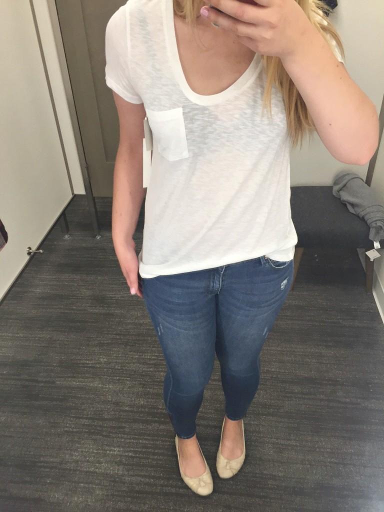white t-shirt - calson