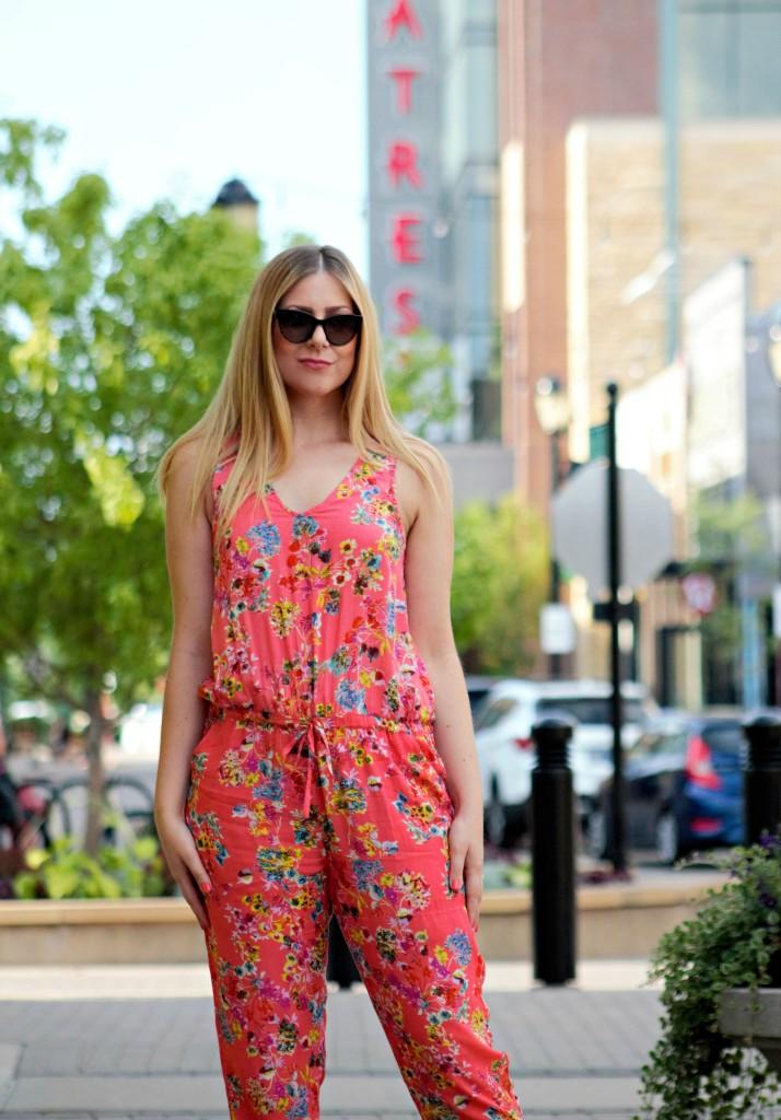 Summer Floral Print Jumpsuit