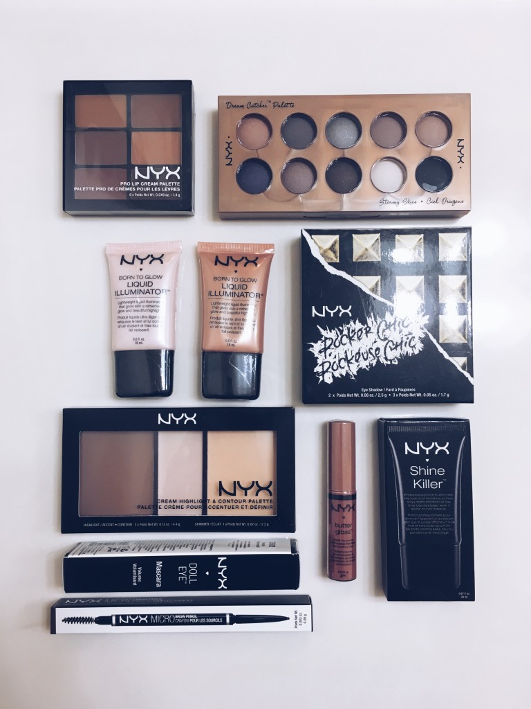 NYX Beauty Products - part of the giveaway