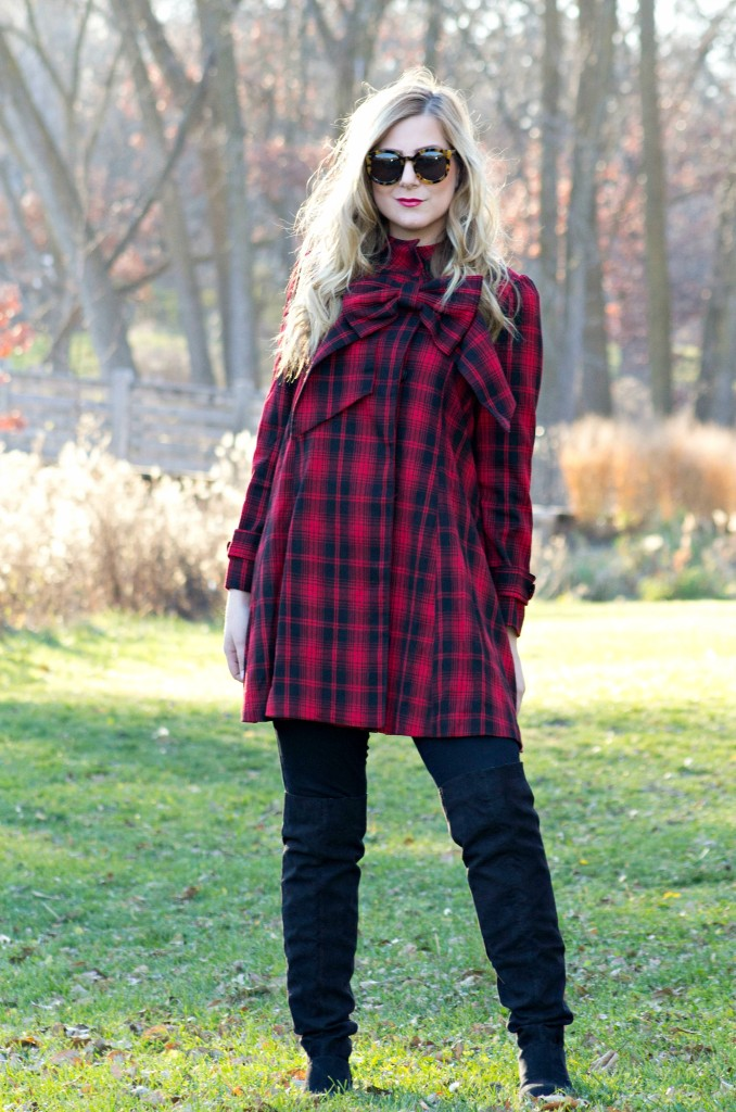 red-plaid-dress-with-a-bow