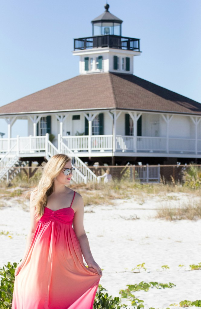 Ombre Dress on the beach