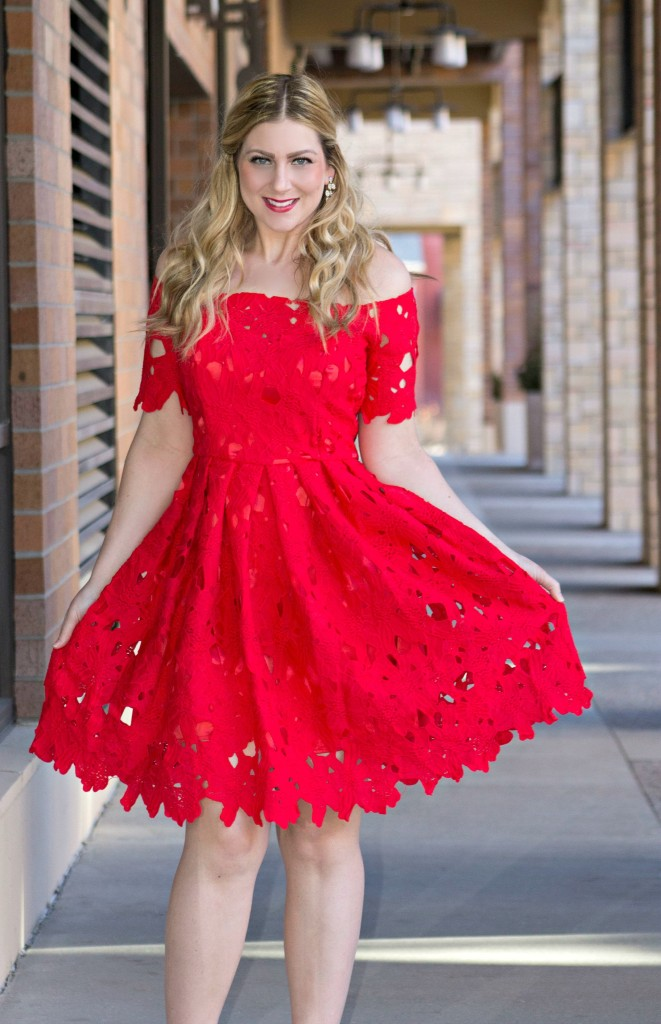 Chicwish red floral dress