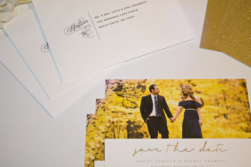 Minted Weddings _ Gold Foil Press Save the Dates