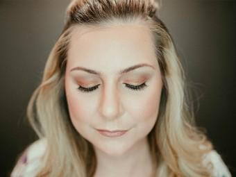 golden bronzed summer makeup